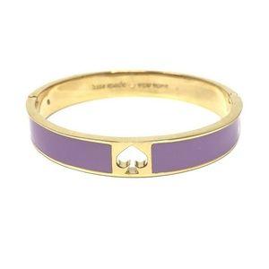Kate Spade Hole Punch Spot Spade Purple Bracelet